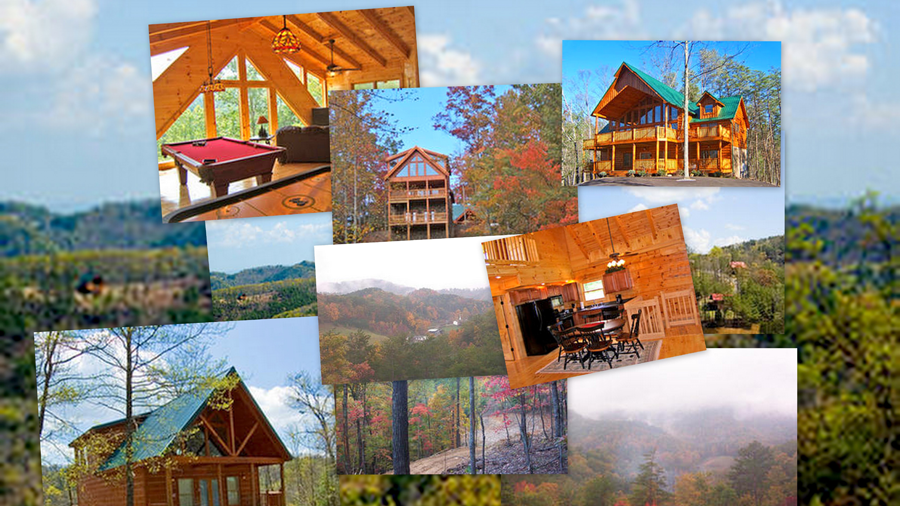 Collage of photographs of Wears Valley near the Great Smokies